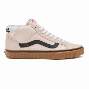 Vans Suede Power Pack Skool 37 Mid Top Outlet - Damske Ruzove | 81870-773 SK